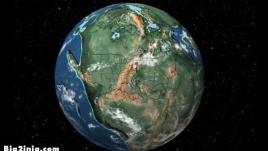 تصویر از محل قرار گیری شهرها پیش از رانش قاره ها