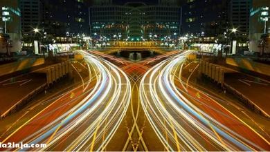 تصویر از آشنایی با روشهای عکاسی از چراغ ماشین ها