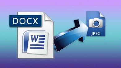 تصویر از آموزش تبدیل فایل DOCX به JPG